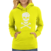 Skull and Crossbones Pirate Neon Womens Hoodie