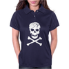 Skull and Crossbones Pirate Neon Womens Polo