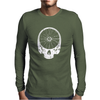 Skull and Fixie Bike Wheel Mens Long Sleeve T-Shirt