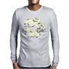 Skull and Heart Mens Long Sleeve T-Shirt