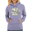 Skull and Heart Womens Hoodie