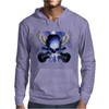 Skull And Wings And Guitars Mens Hoodie