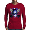Skull And Wings And Guitars Mens Long Sleeve T-Shirt