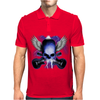 Skull And Wings And Guitars Mens Polo