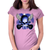 Skull And Wings And Guitars Womens Fitted T-Shirt
