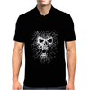 Skull Biker Chopper Skull Goth Emo Metal Punk Spider Web Mens Polo