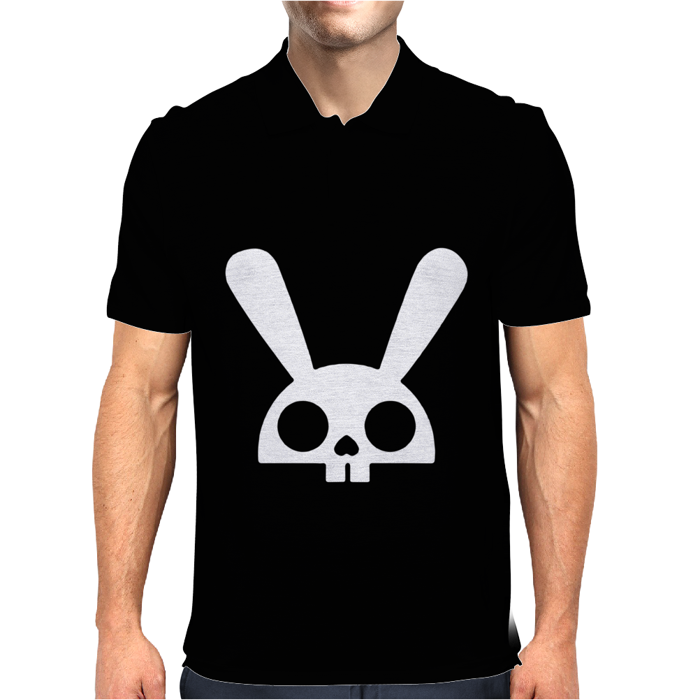 SKULL BUNNY Mens Polo