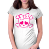 Skull Girly Hoodie Womens Fitted T-Shirt