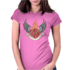 SKULL HEART 2 Womens Fitted T-Shirt