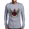 Skull heart Mens Long Sleeve T-Shirt