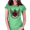 Skull heart Womens Fitted T-Shirt