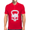 Skull Kettlebell Cross Fit Mens Polo