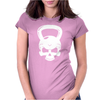 Skull Kettlebell Cross Fit Womens Fitted T-Shirt