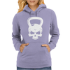Skull Kettlebell Cross Fit Womens Hoodie