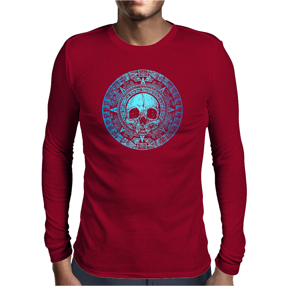 skull maya Mens Long Sleeve T-Shirt