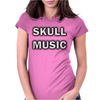 Skull Music Womens Fitted T-Shirt