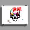 Skull On Air  Poster Print (Landscape)