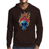 Skull on fire Mens Hoodie