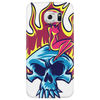 Skull on fire Phone Case