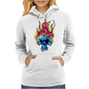 Skull on fire Womens Hoodie