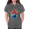 Skull on fire Womens Polo