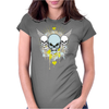 skull skeleton halloween Womens Fitted T-Shirt