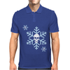 Skull Snowflakes Alternative Christmas Jumper Mens Polo