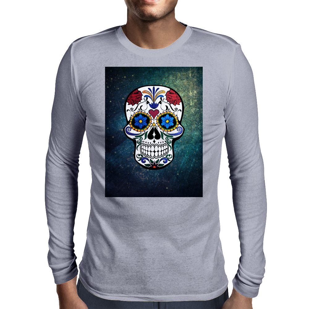 Skull Style Mens Long Sleeve T-Shirt