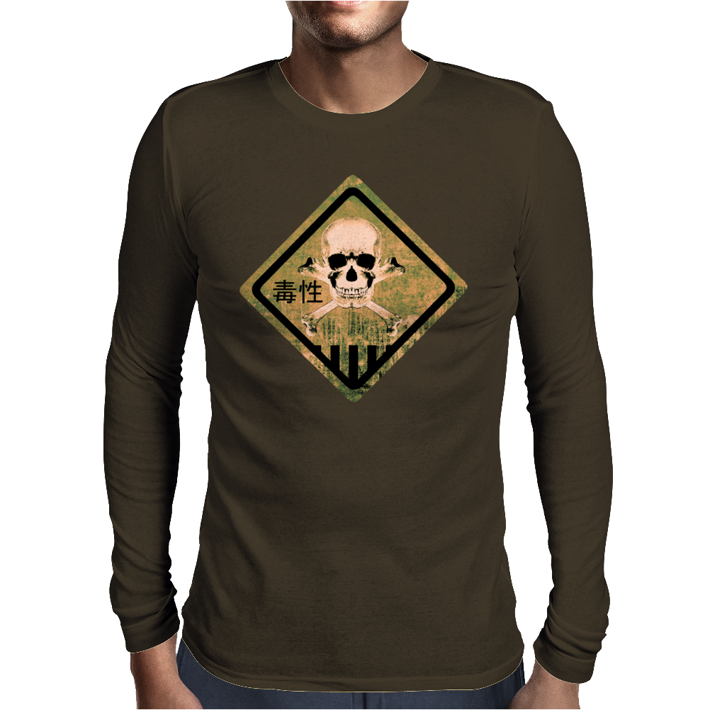 Skull warning Mens Long Sleeve T-Shirt
