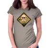 Skull warning Womens Fitted T-Shirt