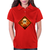 skull warning Womens Polo