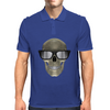 Skull with glasses Mens Polo