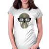 Skull with glasses Womens Fitted T-Shirt