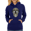 Skull with glasses Womens Hoodie
