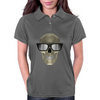 Skull with glasses Womens Polo