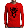 Skull with hat Mens Long Sleeve T-Shirt