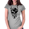 Skull with hat Womens Fitted T-Shirt