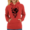Skull with hat Womens Hoodie