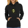 skull with long hair Womens Hoodie