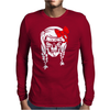 Skull With Pigtails Mens Long Sleeve T-Shirt