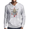 skulls skeleton halloween wings and hearts grunge style Mens Hoodie