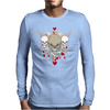 skulls skeleton halloween wings and hearts grunge style Mens Long Sleeve T-Shirt
