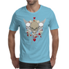 skulls skeleton halloween wings and hearts grunge style Mens T-Shirt