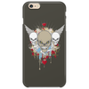 skulls skeleton halloween wings and hearts grunge style Phone Case