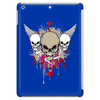 skulls skeleton pink eyes wings and hearts grunge style Tablet