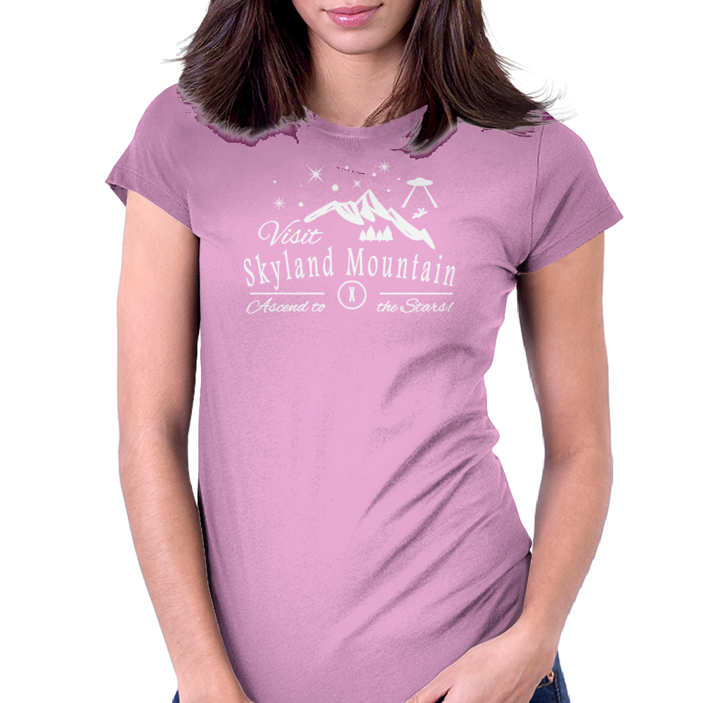 Skyland Mountain X-Files Womens Fitted T-Shirt