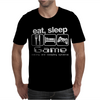 Sleep Game Eating Mens T-Shirt
