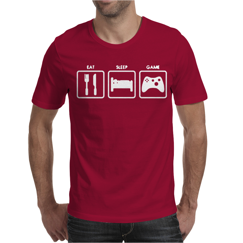 Sleep Game XBOX Gamer Funny ps4 Mens T-Shirt