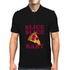 Slice Slice Baby Pizza Tee Mens Polo