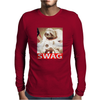Sloth Astronaut Swag Mens Long Sleeve T-Shirt